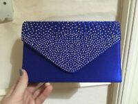 5 blue clutch bags for sale
