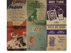 VINTAGE ORIGINAL SHEET MUSIC COLLECTION $5.00 EACH Kambah Tuggeranong Preview
