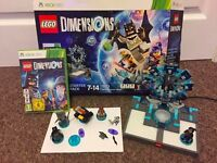 LEGO DIMENTIONS STARTER KIT and Emit FOR XBOX 360