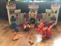 Fisher Price Imaginext Castle set and Dragon