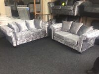 #SPECIAL #OFFER BRAND NEW CHESTERFIELD CRUSHED VELVET 3 seater and 2 seater sofas £599 07903562526