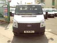 Ford Transit T350 Double Cab Tipper 100ps DIESEL MANUAL WHITE (2014)