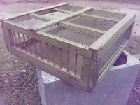 Retro racing pigeon crate