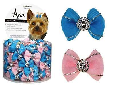 """Dog Puppy Grooming Bow - Aria - Canister of 100 Bows - Maddie - 1/2"""""""