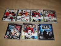 JOBLOT CARBOOT OF 7 X PLAYSTATION 3 GAMES ALL MINT IN BOXES BARGAIN