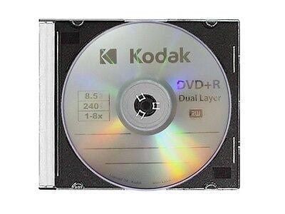 5 Kodak 8X Blank Dvd R Dl Dual Double Layer Logo Branded 8 5 Gb Media Disc
