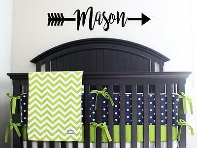 (PERSONALIZED NAME ARROW Child Vinyl Wall Decal Sticker Decor Lettering Nursery)