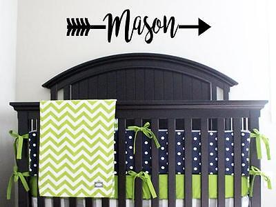 PERSONALIZED NAME ARROW Child Vinyl Wall Decal Sticker Decor Lettering Nursery (Nursery Letters)