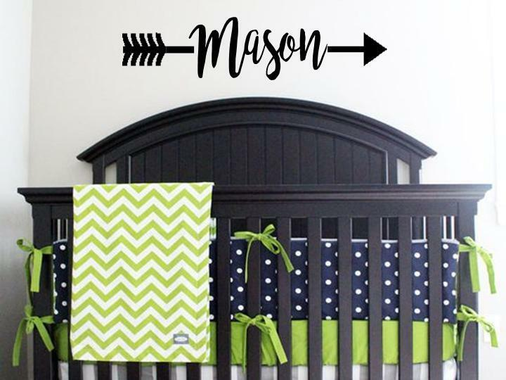 PERSONALIZED NAME ARROW Child Vinyl Wall Decal Sticker Decor