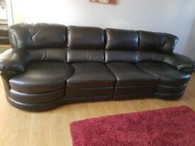 New black leather suite for sale £150 or nearest offer or nearest offer