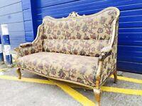 Antique Gilt Framed Parlour Sofa - Vintage and Retro