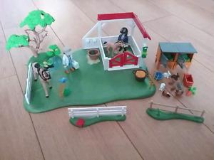 Playmobile chevaux et lapins
