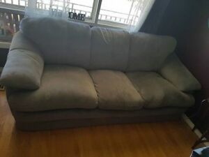 Couch - Beautiful Blue/Grey Comfortable & Soft