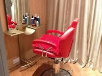 Barber chair & mirror