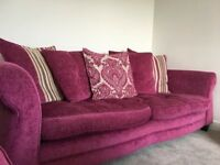 Beautiful Pink DFS 4 Seater Sofa