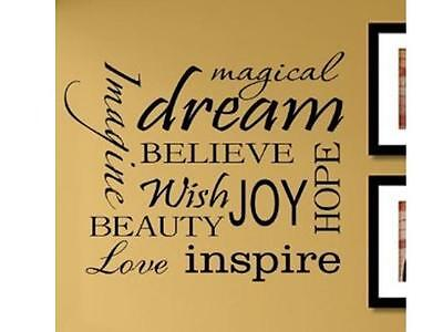 MAGICAL DREAM  Vinyl Lettering Wall Art Sticker Decals Decor Inspirational DIY ](Magic Decor)