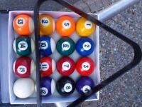 American Pool Balls Set
