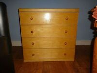 LUXURIOUS LARGE DEEP PINE CHEST OF DRAWERS