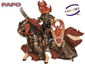 PAPO-BLACK-BEETLE-WARRIOR-AND-HIS-HORSE-GUERRIER-38986-6-NEW-FIGURE-KNIGHT