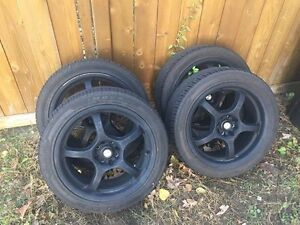 FOCAL F-05 RIMS FOR SALE WITH HERCULES ZR RATED TIRES ($400 obo)
