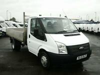 Ford Transit T350 LWB Dropside 100PS DIESEL MANUAL WHITE (2013)