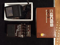 Boss Bass Octave OC-3 with Box and Boss Power Supply