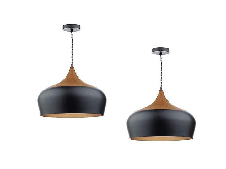 Light up your life! One Dar Gaucho ceiling pendant light black/wood