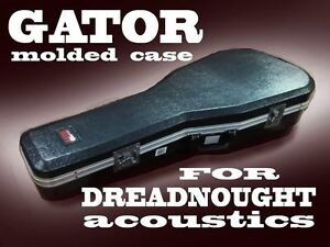 HIGH-QUALITY MOLDED CASE for DREADNOUGHT-STYLE GUITARS