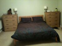 Super king size Oak barker and stonehouse bed