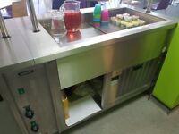Catering Display - Bain Marie, fridge display, hot plate cupboard, storage