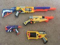 5 x Nerf Guns, Waistcoat, 50+ Bullets