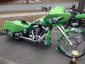 Mustang Green Custom HD Road Glide