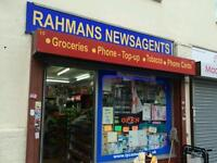 NEWSAGENT CONVENIENCE SHOP FOR SALE