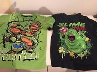 BOYS 3-4 YEARS TURTLES + GHOSTBUSTERS TSHIRT EXCELLENT CONDITION £5 FOR BOTH