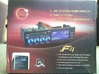 PC 5.25 Bay Quad Fan and Temp Controller NEW