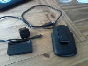 BlackBerry charger and leather case with clip
