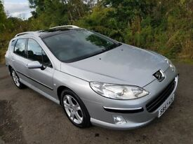 Peugeot 407 SW HDi**DIESEL**AUTOMATIC**ESTATE**LOW MILES**F.S.H*LONG MOT**Panoramic Roof**Stunning!!
