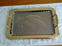 Italian gold plated stainless steel tray