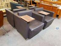 Brown Leather recption seating - Delivery Available