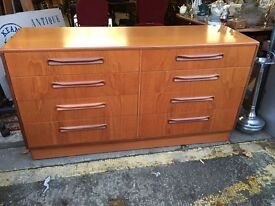 Stunning Mid Century G Plan Chest Of Drawers / Sideboard