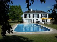 Luxury villa/house for sale. 6 beds + private heated pool. NW France. Sml Lake - income opportunity