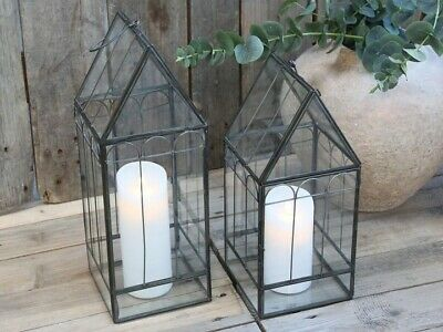 Glass Green House Decorative Plant or Candle Holder Hanging Lantern Christmas