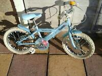 Lovely little girls bike 16inch wheels suit 4ish to 6,7 ish good working order