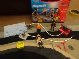 Playmobil Case As New Complete with Instructions CITY ACTION Fireman set 5651 Only £8
