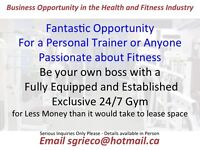Gym Business Opportunity - Personal Trainers Take a Look!