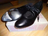 Black lace up Tap shoes size 7
