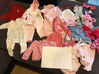 BABY GIRL NEWBORN AND 0-3 CLOTHES! VERY GOOD CONDITION!