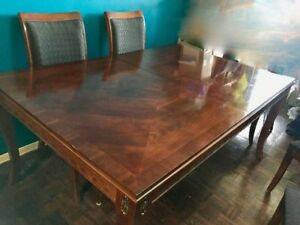 Empire Style DeBoers Wood Dining Table By Stanley