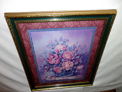 Home Interiors  Large '' Bowl of Roses '' Picture  Gorgeous   23.5'' x 27.5''