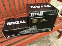 Titan 2000w Electric Chainsaw Brand New, Boxed.